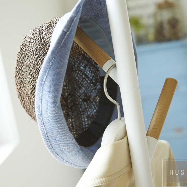 perchero de pie blanco metal japones hus concept