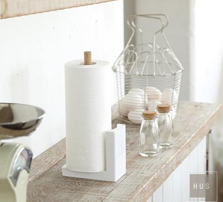 Porta rollo de cocina resina y madera